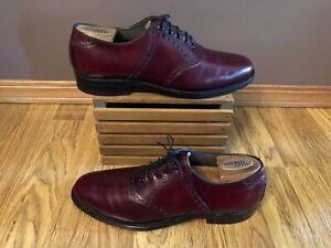 FootJoy Classics 73981 Burgundy Saddle Oxfords Dress Shoes Men's 8.5 C