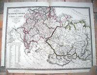 1824 CARTA GEOGRAFICA DELL'IMPERO RUSSO DI F. FRIED. EDITO DA ARTARIA. RUSSIA