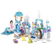 4in1 Princess Girls Ice Castle Scene Building Blocks Figures Bricks Models Toys