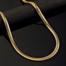 18k Goldkette Gold Schmuck Königskette Panzerkette vergoldet Herren Damen 50cm