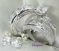 His & Her Matching Engagement Wedding Ring Set, Sz 8