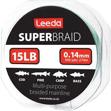 Leeda Super Braid - 150yds or 300 yds spools - 15lb, 20lb, 30lb, 40lb & 50lb BS