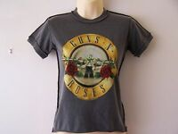 *NEW* GUNS 'N' ROSES GNR DRUM LOGO ROCK MY WORLD LADIES T SHIRT GREY SIZE XS S L
