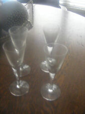 GORGEOUS ORREFORS CRYSTAL CORDIAL OR SHOT  GLASSES (4)