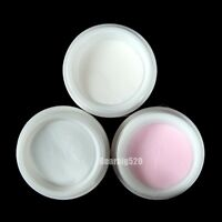 Clear Pink White Polymer Acrylic Powder Nail Art 3 Color Polymer Powder Box