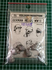 VERLINDEN 5405 - GERMAN HEADS n°1 - 1/35 WHITE METAL KIT
