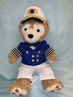 "Disney Duffy Cruise Line Captain Plush Bear Hidden Mickey 15"" (9)"