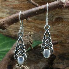 925 Sterling Silber, Keltischer Ohrschmuck mit Perlmutt,weiss,Ohrhänger,Ohrringe