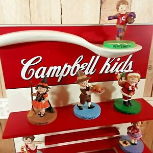 Campbell Soup Kids Perpetual Calendar by Danbury Mint 12 Figurines Complete