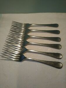 Traditional Vintage X6 Stainless Dinner Forks, 1950's. Cutlery. Made in England