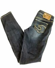 Silver Suki Jegging womens denim jeans W 26 L 31 dark
