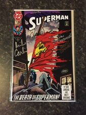 Superman #75 DC 1987 Death of Superman Doomsday Signed 5x W COA CGC IT