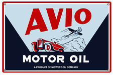 Avio Motor Oil Gas Station Sign