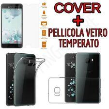 CUSTODIA COVER TPU per HTC U ULTRA + PELLICOLA VETRO TEMPERATO
