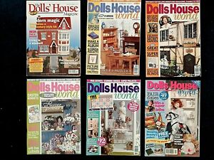 Dolls House World 6 Magazines, The Secret Garden, Hanger Dresses, Tilling The Ga