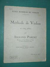Méthode de violon Armand PARENT 2e partie