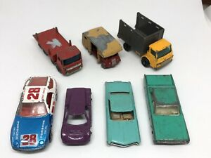 Vintage Diecast Lesney Aurora Tootsietoy Cars Trucks 7 Car Lot - Restore/Custom