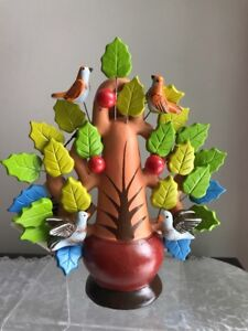 Ten Thousand Villages Blossoming Life Candleholder Fair Trade Handcrafted Peru