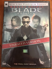 BLADE 3 TRINITY 2 DISC UNRATED VERSION WESLEY SNIPES MARVEL AS NEW REG1 DVD