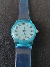 Blue Watch. Clear Blue Strap.