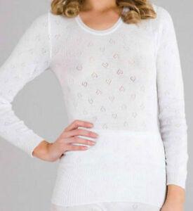 Ladies Thermal Underwear - Vest, Short /Long Sleeved, Long John- White&Black New