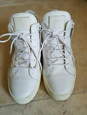 GIUSEPPE ZANOTTI HIGH TOP SNEAKER WOMEN WHITE SIZE  9.5US / 39.5 EU $650+