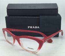 New PRADA Eyeglasses VPR 03Q PDO-1O1 Red-Pink fade to Transparent Cat-Eye Frame
