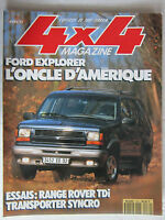4X4 MAGAZINE N° 139 /FORD EXPLORER/RANGE ROVER TDI/VW TRANSPORTER SYNCRO