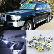 White LED Interior Lights Kit For Toyota Land Cruiser 100 series 2000 -10Pcs