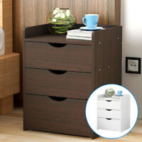 Modern Chest of Drawers Bedside Table Cabinet Nightstand 3 Drawers Bedroom