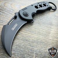 TAC FORCE Spring Assisted Open Black TACTICAL KARAMBIT CLAW Folding Pocket Knife