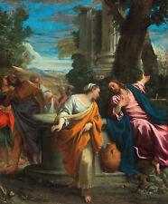 PAINTING CARRACCI CHRIST AND THE SAMARITAN WOMAN POSTER WALL ART PRINT LLF0166