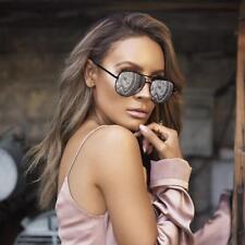 "NEW QUAY X Desi Perkins High Key Black/Silver Mirror ""High Key Mini"" Sunglasses"