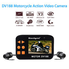Dv188 Motorcycle Mount Action 1080p FHD Dual Camera Recording 2 Lens Waterproof