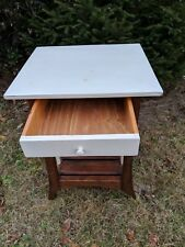 Ron Fisher Wood Country Side or End Table with Drawer