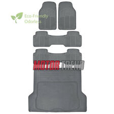 5pc Rubber Floor Mat Heavy Duty Van Gray Heavy Duty BPA Free Durable Liner