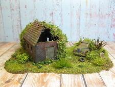 Alter Schuppen mit Scheunenfund Landschaft Modelleisenbahn Diorama H0 1:87 #79
