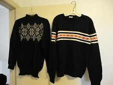 Lot Of 2 Women'S Vintage Hennings Falmouth, Me Ski Sweaters /Size M/Navy Blue