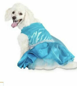 Bootique Belle of the Ball Large 17 - 19 IN Blue Princess Party Dog Dress