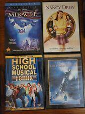 Miracle, High School Musical, Polar Express, Nancy Drew Family Children DVD Lot