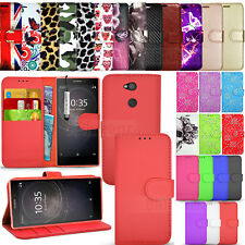 For Sony Xperia L2 Case Phone Wallet Leather Cover Protector Book Flip NEW