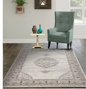 Traditional Area Rugs for Living Room Indoor/Outdoor Gray Floor Carpet 8x11 Rugs
