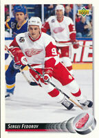 Sergei Fedorov 1992-93 Upper Deck #157 Detroit Red Wings Hockey Card