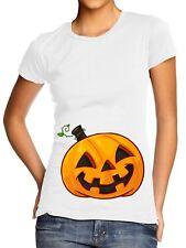 Pumpkin Bump T-Shirt Womens Pregnant at Halloween Belly Costume Maternity L105