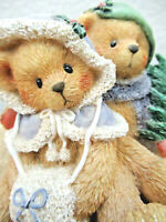 Cherished Teddies Christmas Figurine Snuggling Bear Wishing You A Cozy Christmas