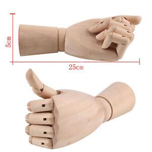 Wooden Artwork Sculpture Hand Left Body Artists Jointed Articulated Model UK