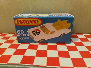 Matchbox Lesney Superfast Holden,No60  Ute Pick-up EMPTY Repro Box ONLY NO CAR