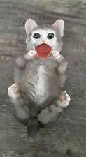 Feline American Shorthair Black and White Kitty Cat Wine Bottle Holder Figurine