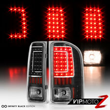 2007-2013 Chevy Silverado 1500 2500 3500 Black Chrome LED Brake Stop Tail Lights