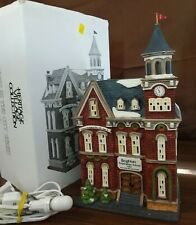 Dept 56 Christmas In The City Lighted 1995 Brighton School 58876 Retired 1998